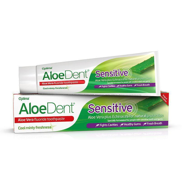AloeDent® Sensitive fluoride toothpaste 100ml - Optima Health & Nutrition