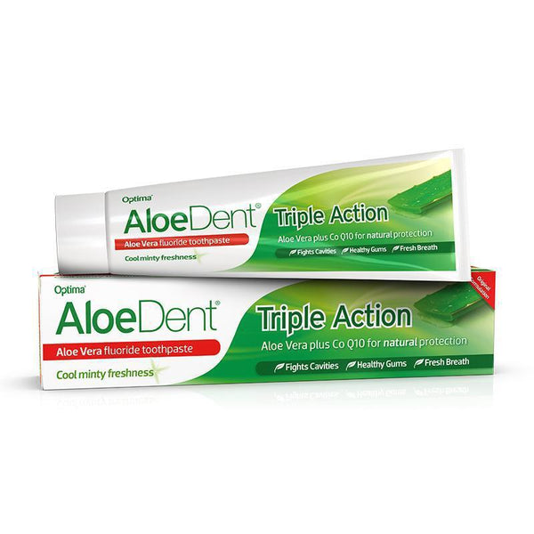 AloeDent® Triple Action fluoride toothpaste 100ml - Optima Health & Nutrition
