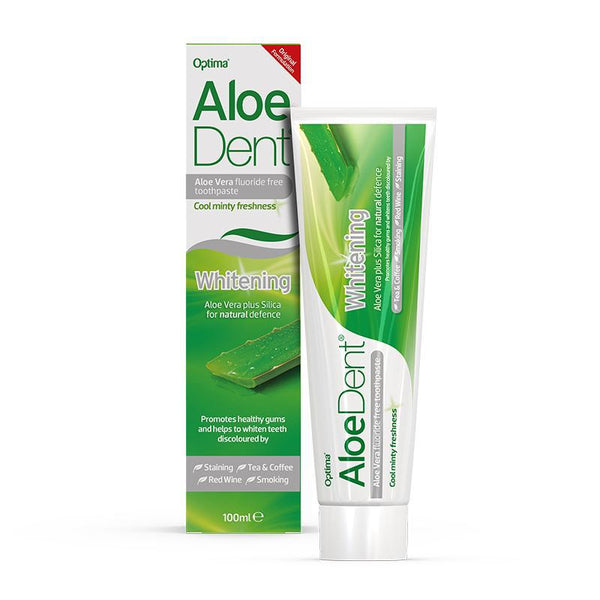 AloeDent® Whitening fluoride free toothpaste 100ml - Optima Health & Nutrition