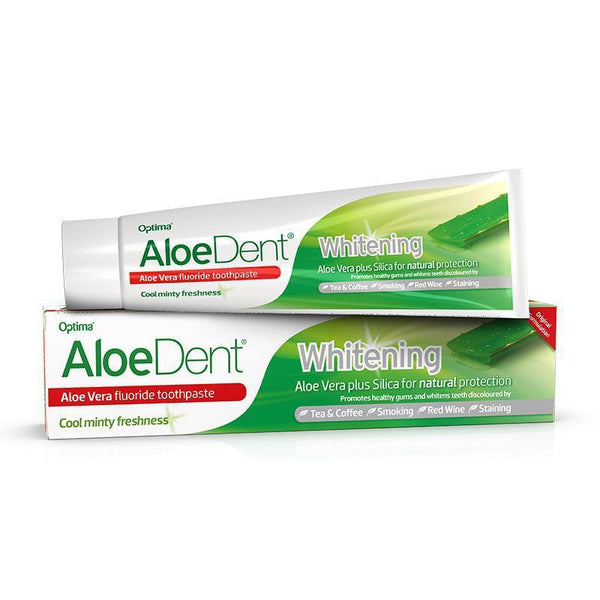 AloeDent® Whitening fluoride toothpaste 100ml - Optima Health & Nutrition