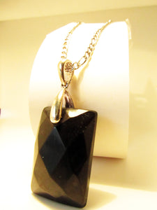100% Certified Faceted Shungite Pendant