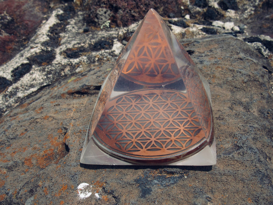 Flower of Life Pyramid with Quantum Resonance