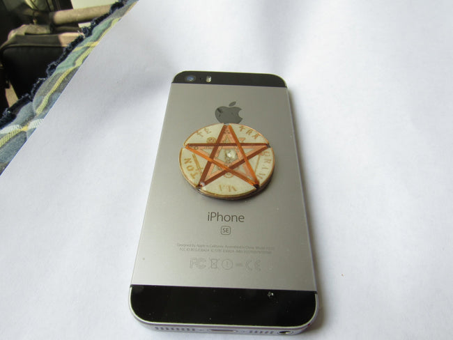 Tetragrammaton Protective Sticker Shield Against Harmful Frequencies for Cell Phones - Metayantra Consciencia