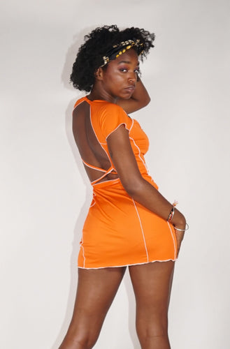 Bo Mini Dress - Orange