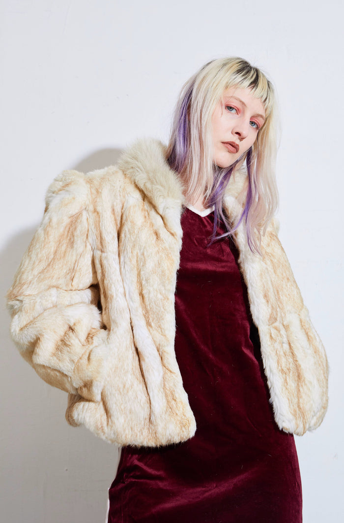 Genuine Rabbit Fur Coat