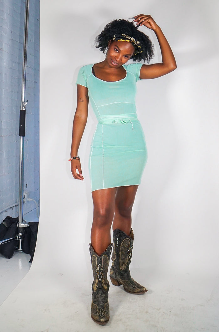 Bo Mini Dress - Mint Green