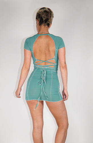 Bo Mini Dress - Teal