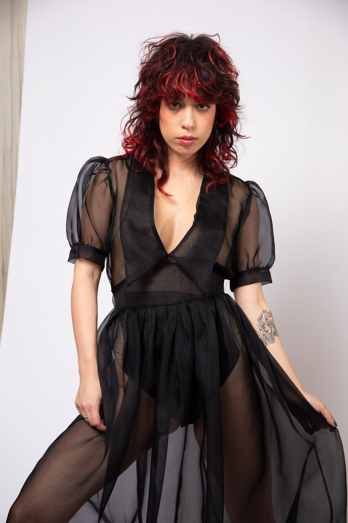 Sailor Dress - Black Organza
