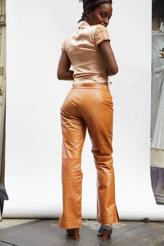 Burnt Sienna Leather Pant