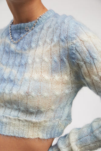 Baby Blue Crop Sweater