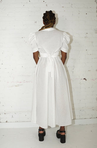 Sailor Dress - White Swiss Dot