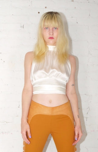 Silk Halter Top - White