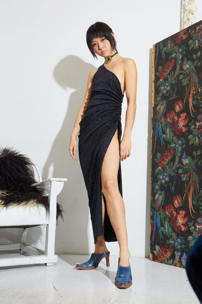Asymmetrical Sparkle Cocktail Dress