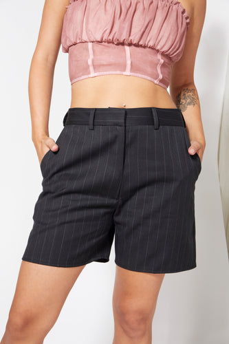 Men's Style Suit Shorts - Black
