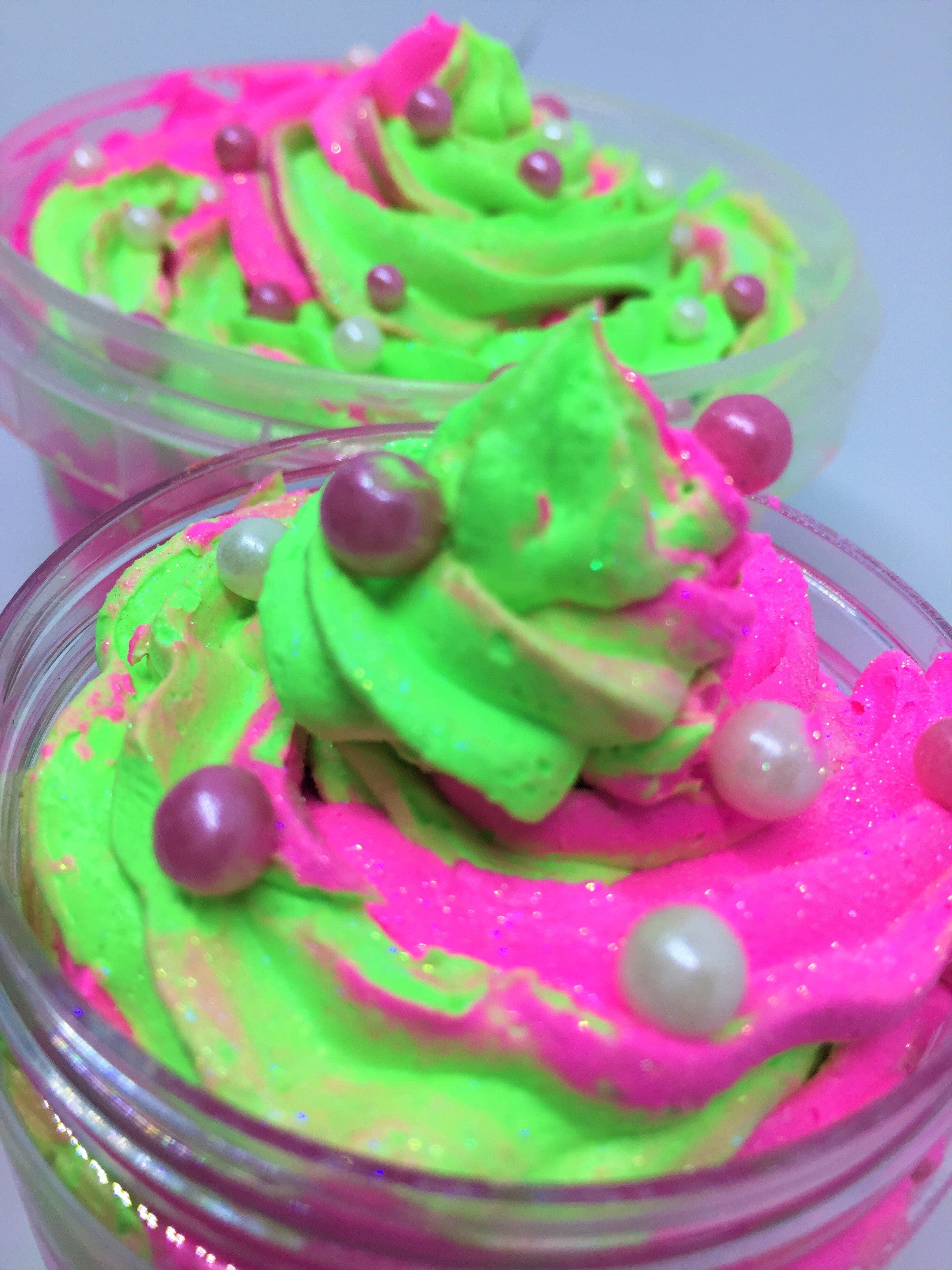 Hot Pink Lime Whipped Soap Frosting