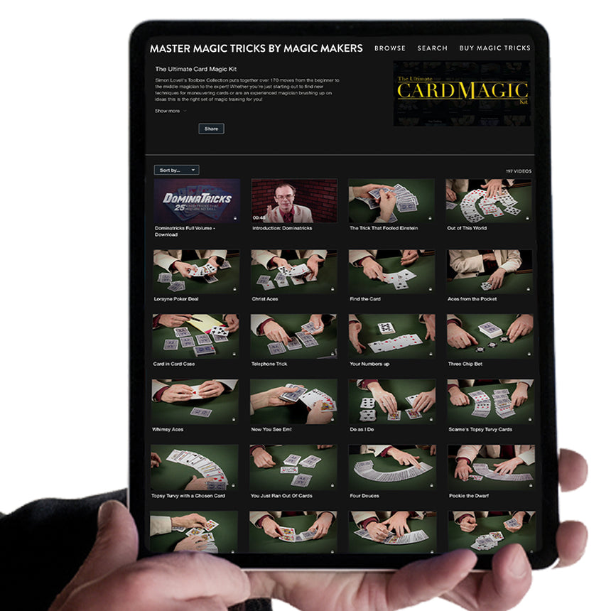 Encyclopedia of Card Tricks and Sleights 6 Volume - Instant Download and Streaming Access
