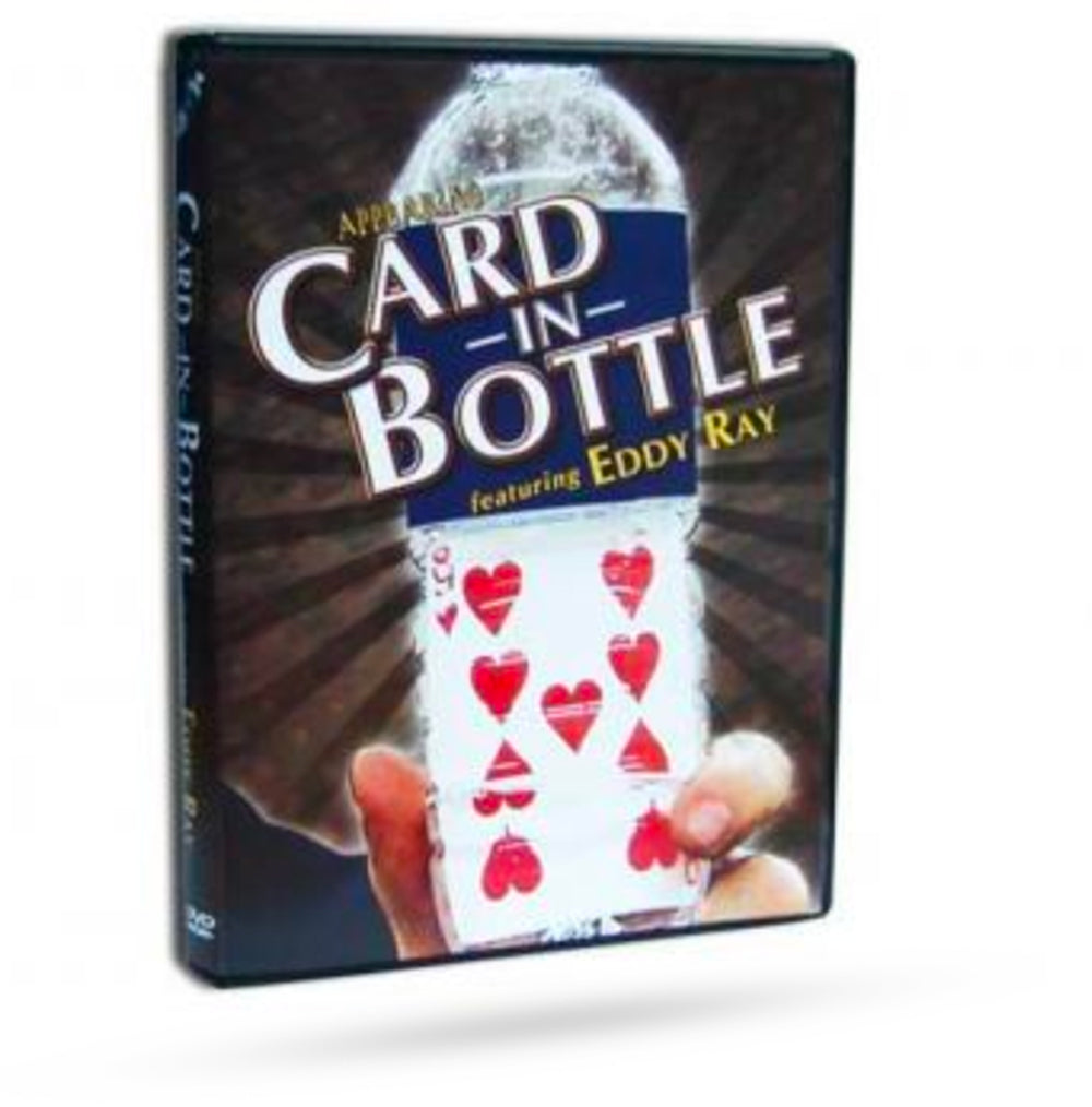 Make a card appear in a bottle magic trick