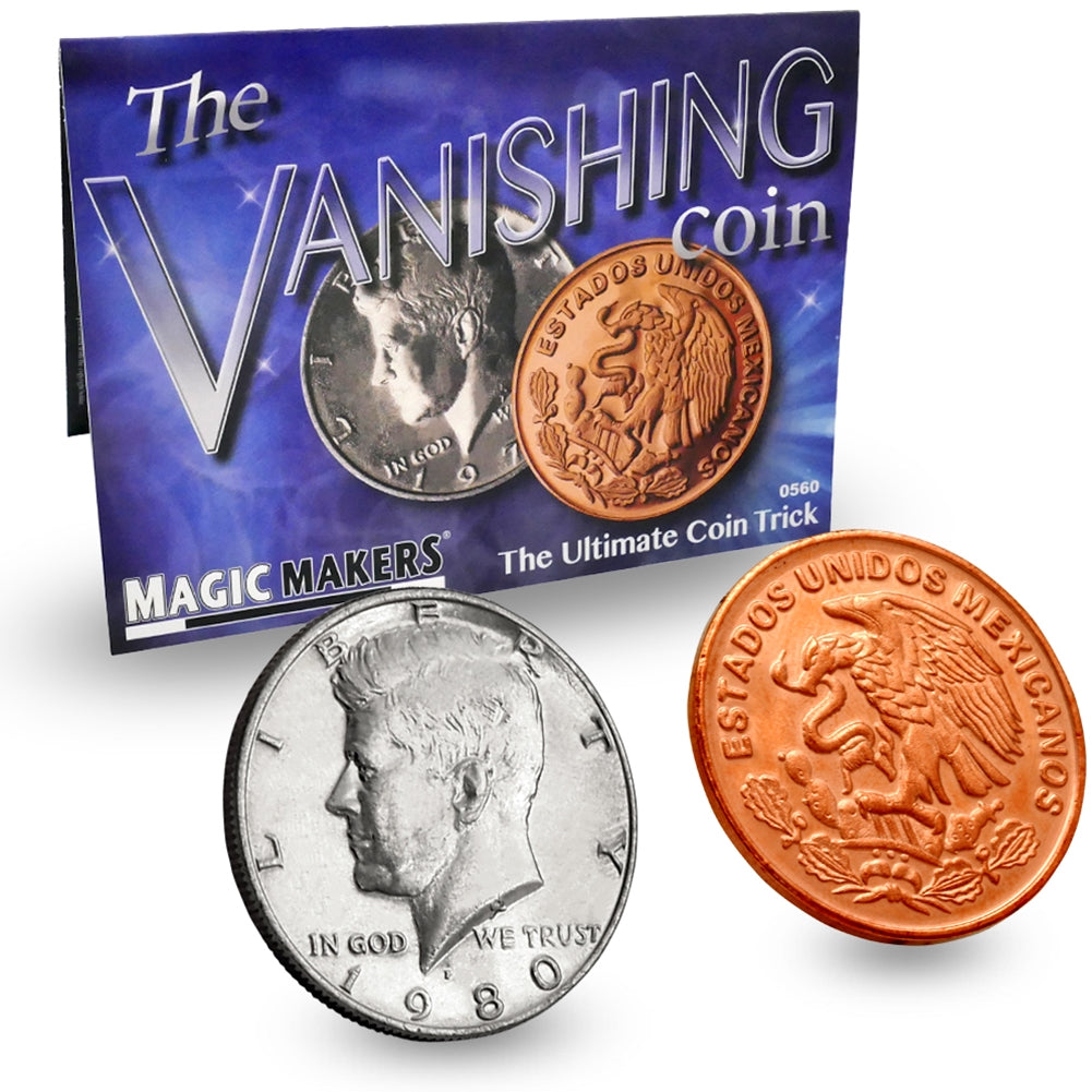 Vanishing Coin - Ultimate Coin Magic Kit (Professional Scotch & Soda)