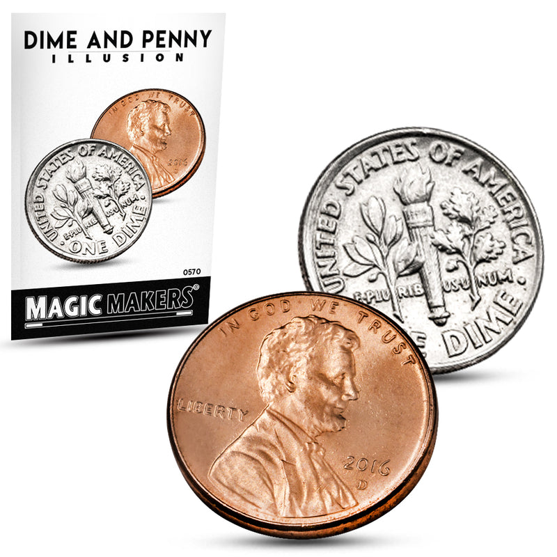 Coin Magic Trick - Dime and Penny Illusion Trick