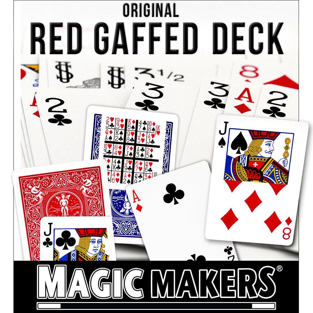 Magic Makers Original Bicycle Gaff Deck in Bicycle Red