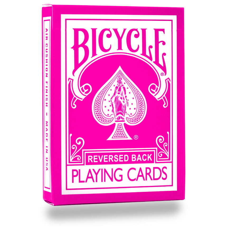 Reversed Back Bicycle Deck - Pink