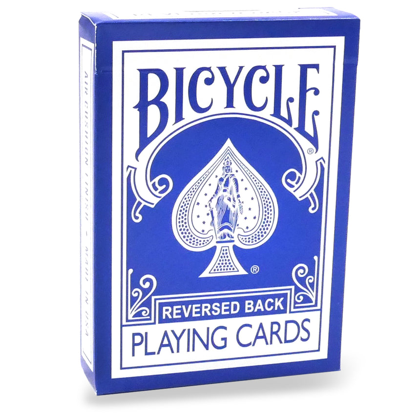 Reversed Back Bicycle Deck - Blue
