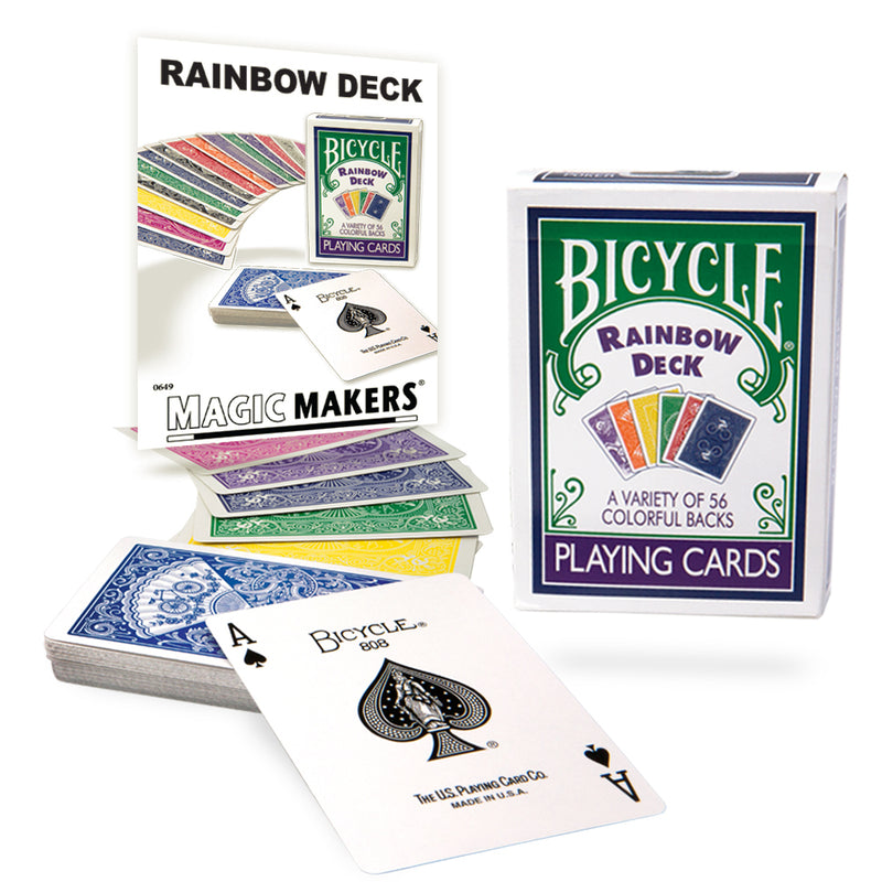The Ultimate Rainbow Deck in Bicycle Card Stock by Magic Makers