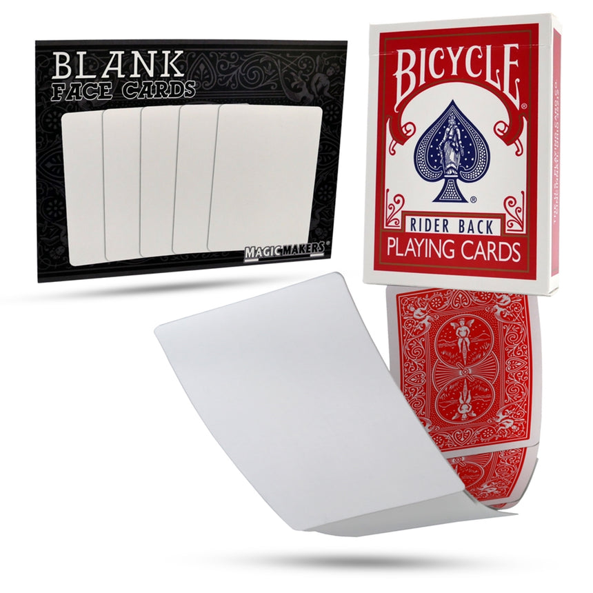 Magic Makers Blank Face Red Back Deck In Bicycle Stock