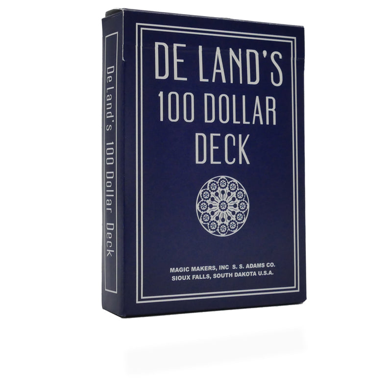 De Land's $100 Marked Deck - The Ultimate Trick Deck - With Bonus Packet Trick