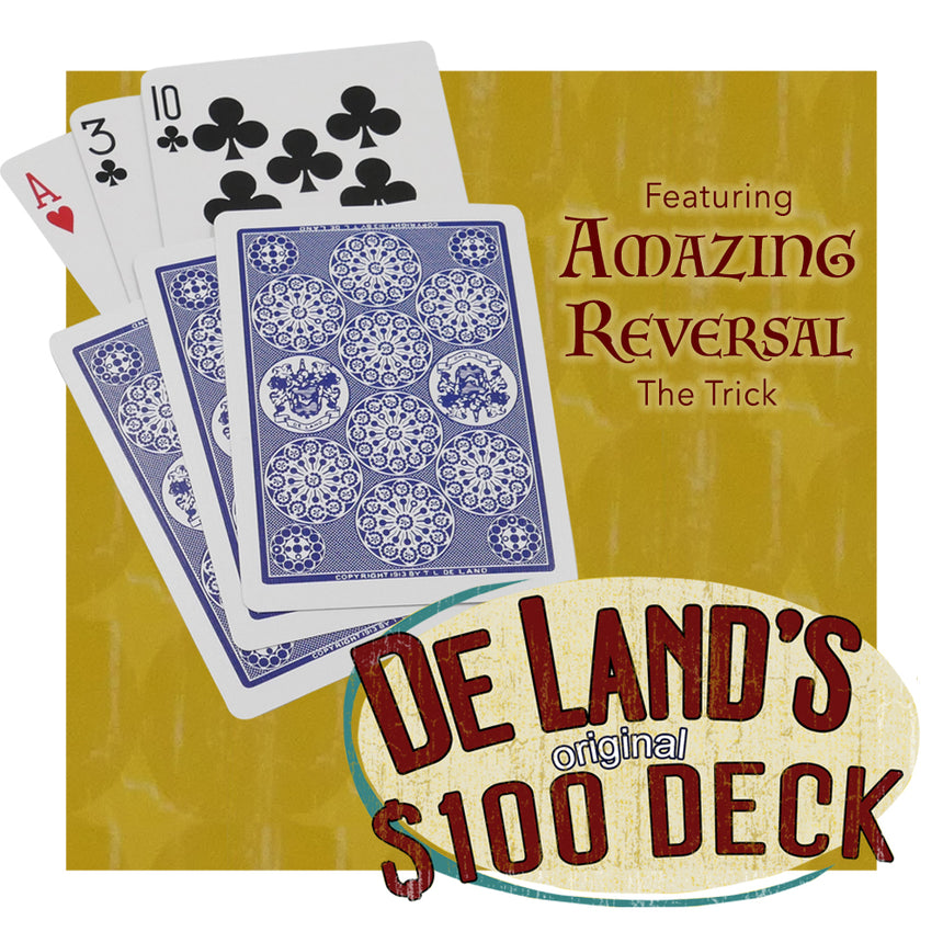 Deland's Marked Deck - The Ultimate Trick Deck - With Bonus Packet Tricks