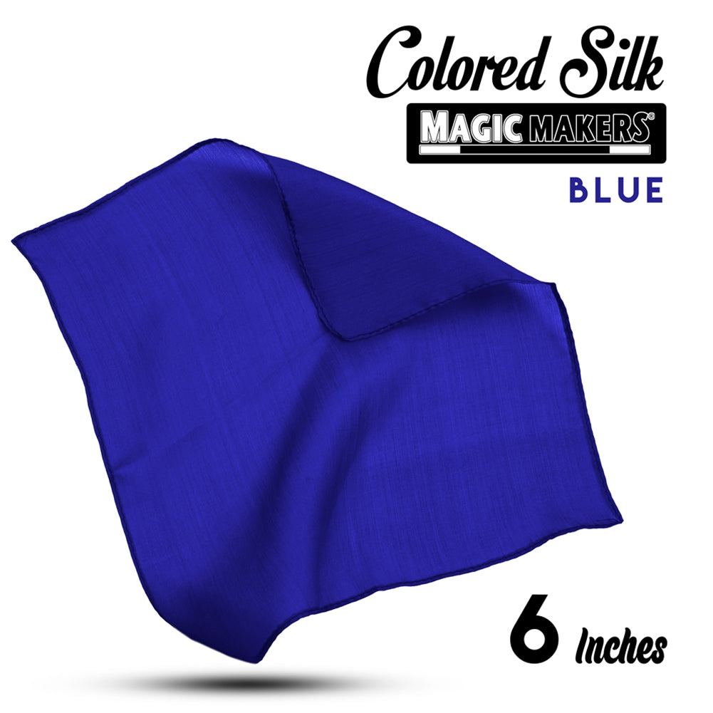 Blue 6 inch Colored Silk SINGLE