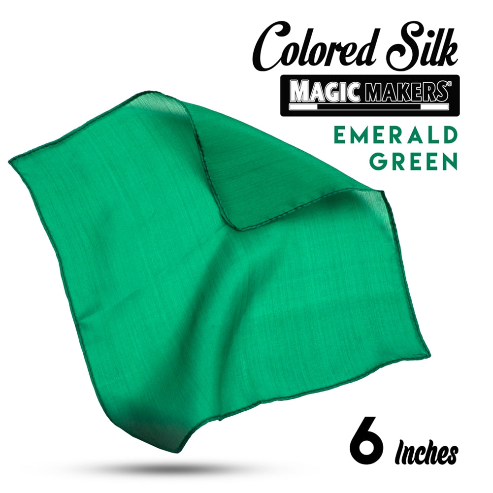 Emerald 6 inch Colored Silk SINGLE