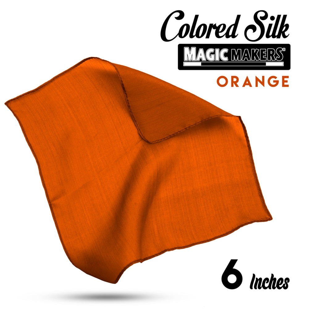 Orange 6 inch Colored Silk SINGLE