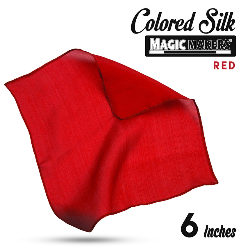Red 6 inch Colored Silk SINGLE