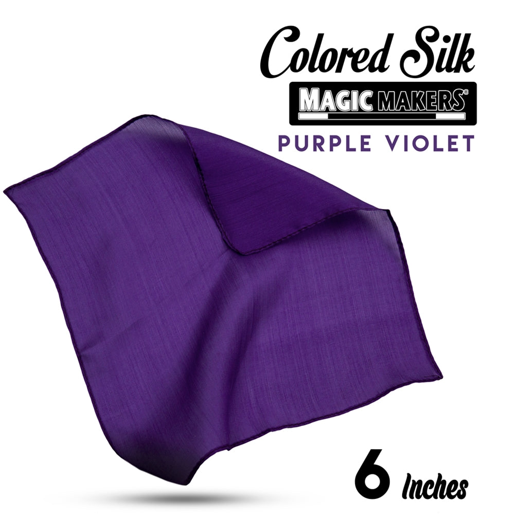 Purple Violet 6 inch Colored Silk SINGLE