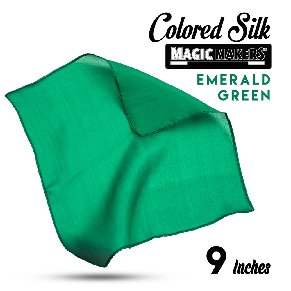 Emerald 9 inch Colored Silks SINGLE