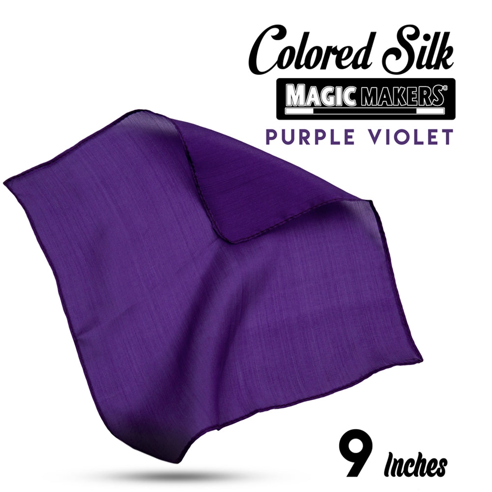 Purple Violet 9 inch Colored Silk SINGLE