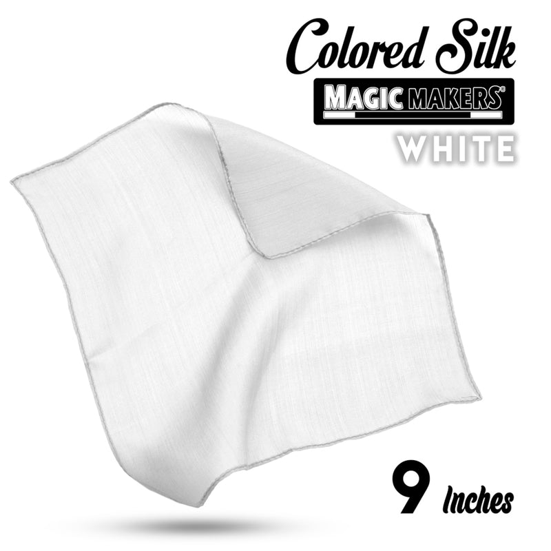 White 9 inch Colored Silk SINGLE