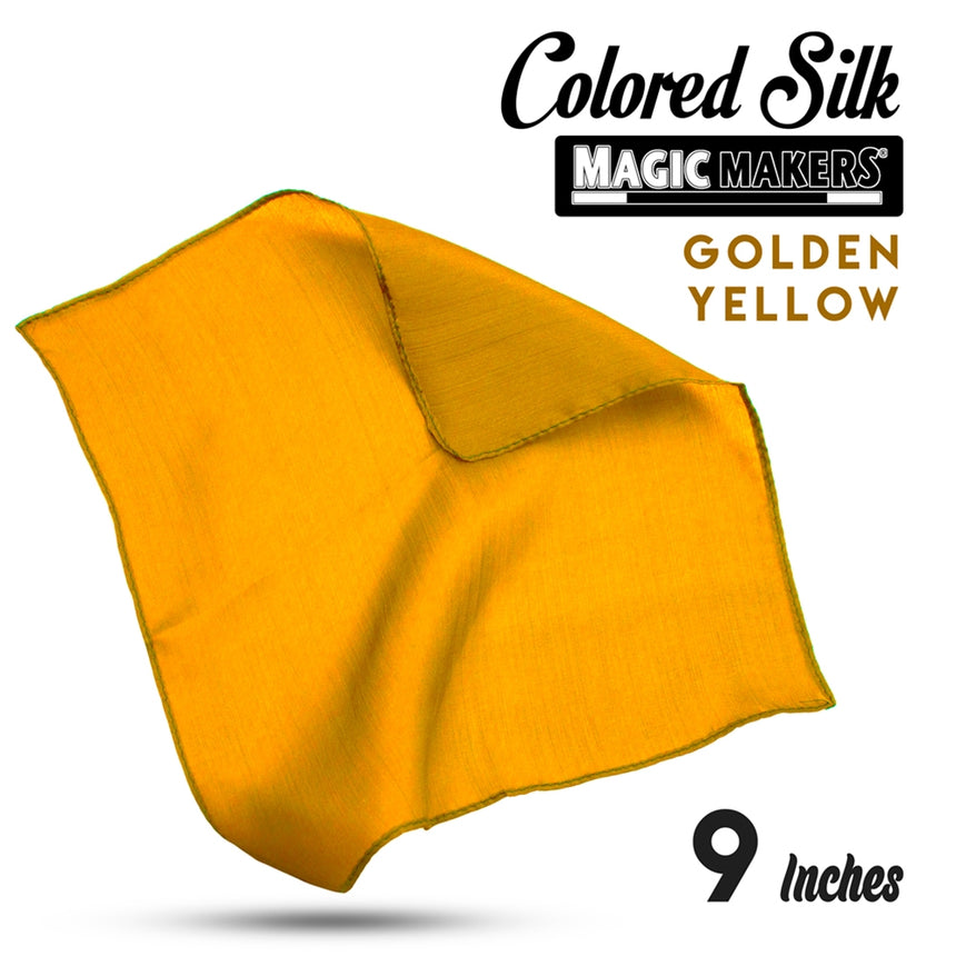 Golden Yellow 9 inch Colored Silk SINGLE