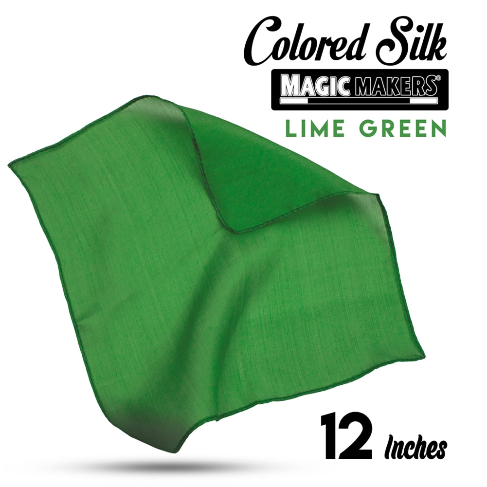 Green 12 inch Colored Silks SINGLE