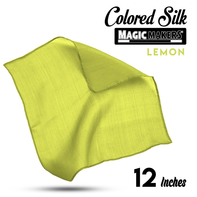 Lemon 12 inch Colored Silks SINGLE