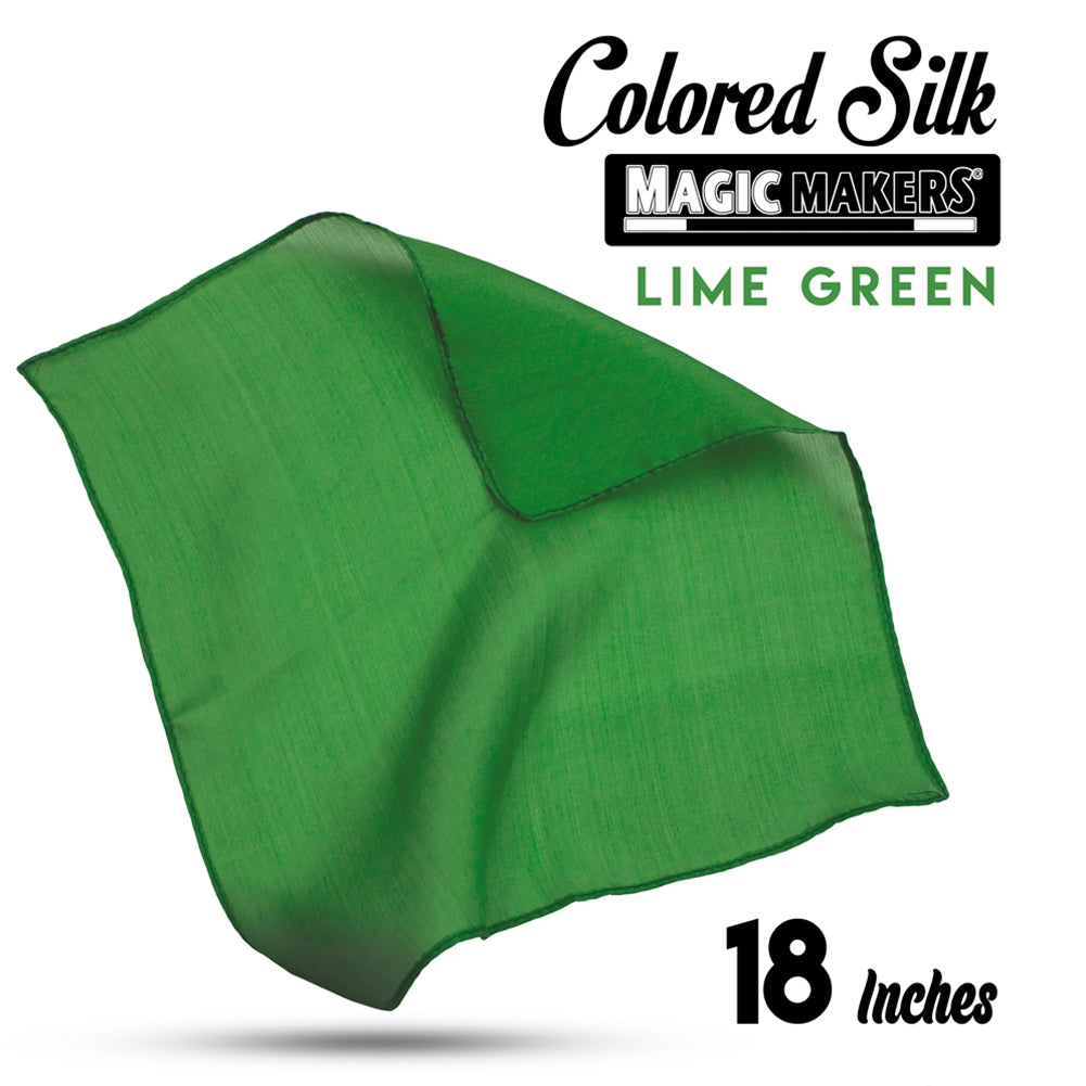 Green 18 inch Colored Silks- Professional Grade