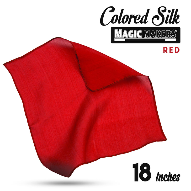 Red 18 inch Colored Silks By Magic Makers - Professional Grade