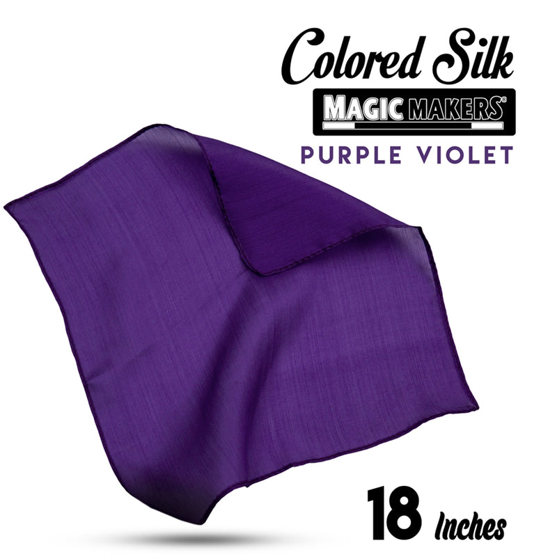 Purple Violet 18 inch Colored Silks- Professional Grade
