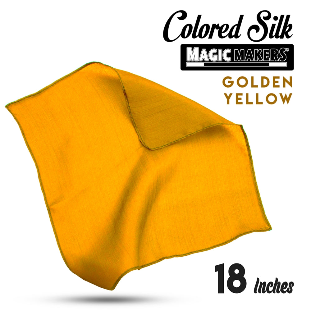 Golden Yellow 18 inch Colored Silks- Professional Grade