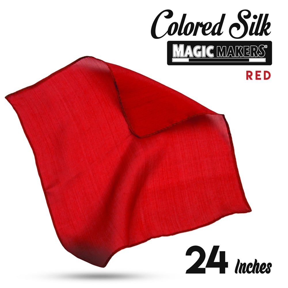 Red 24 inch Colored Silks- Professional Grade