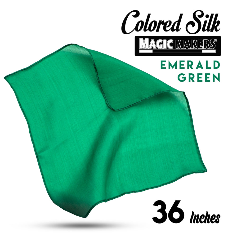Emerald 36 inch Colored Silks- Professional Grade
