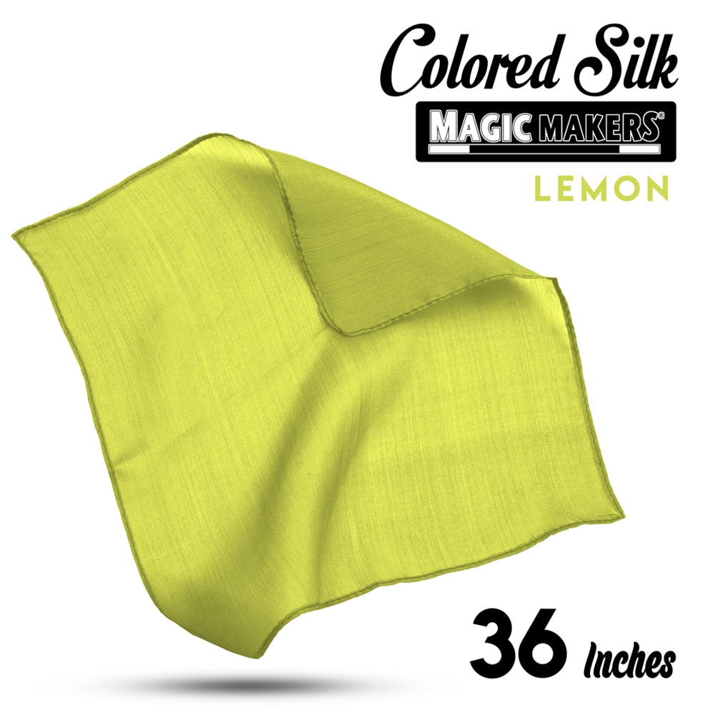 Lemon 36 inch Colored Silks- Professional Grade