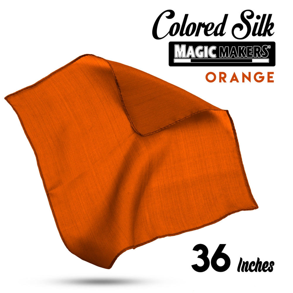 Orange 36 inch Colored Silks- Professional Grade