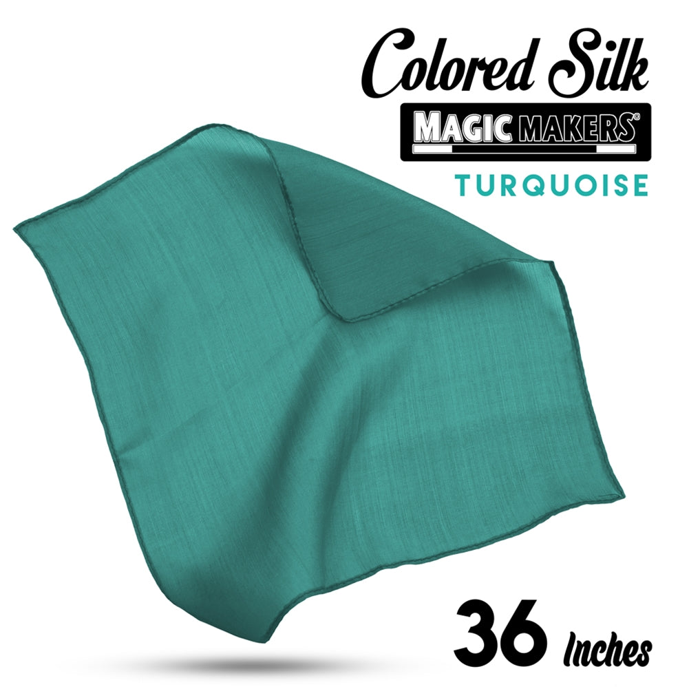 Turquoise 36 inch Colored Silks- Professional Grade